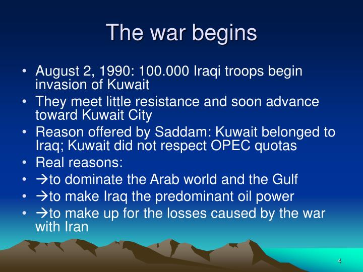 an introduction to the history of the attack of iraqi military forces to kuwait The iraqi air force, like all iraqi forces after the 2003 invasion of iraq, was rebuilt as part of the overall program to build a new iraqi defense force the newly created air force consisted only of 35 people in 2004 when it began operations.