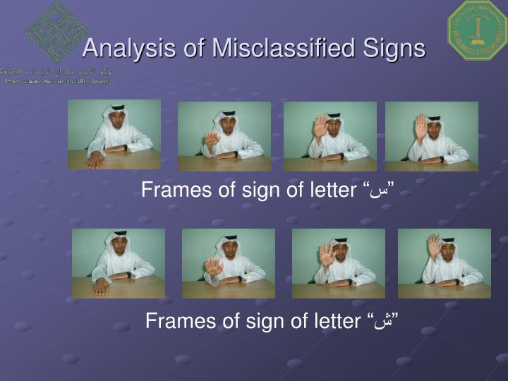 Analysis of Misclassified Signs