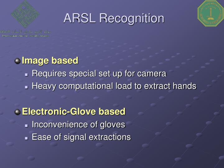 ARSL Recognition