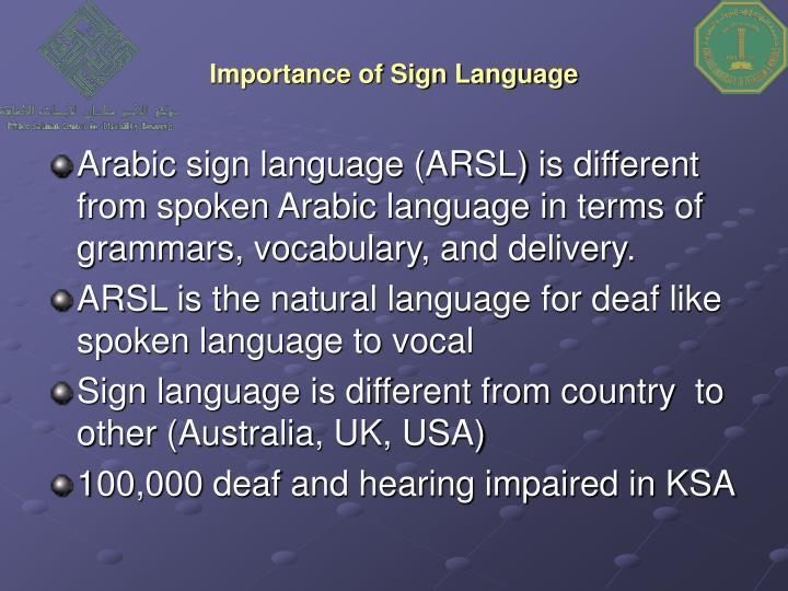 Importance of sign language