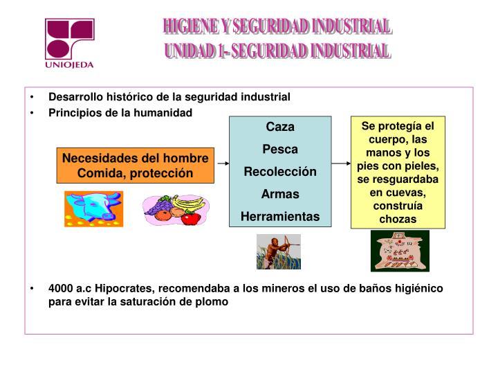 Desarrollo histórico de la seguridad industrial