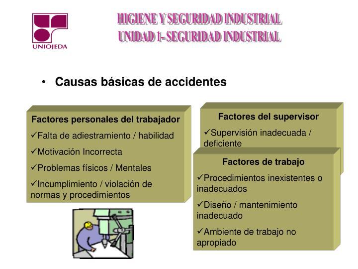 Causas básicas de accidentes