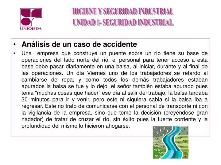 Análisis de un caso de accidente