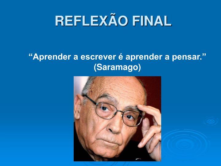 REFLEXÃO FINAL