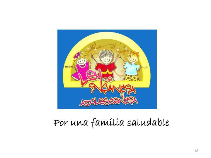 Por una familia saludable