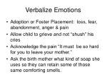 verbalize emotions
