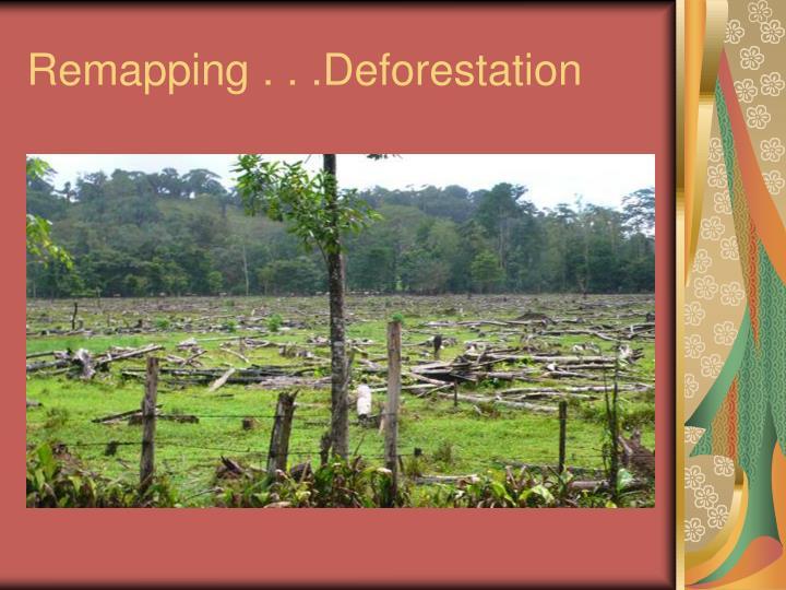 Remapping . . .Deforestation