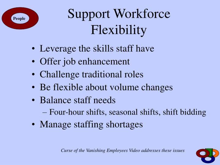 Support Workforce Flexibility