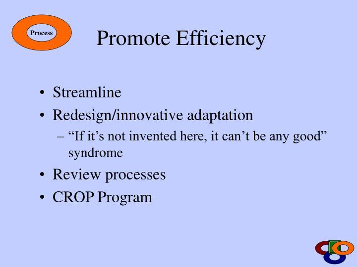 Promote Efficiency