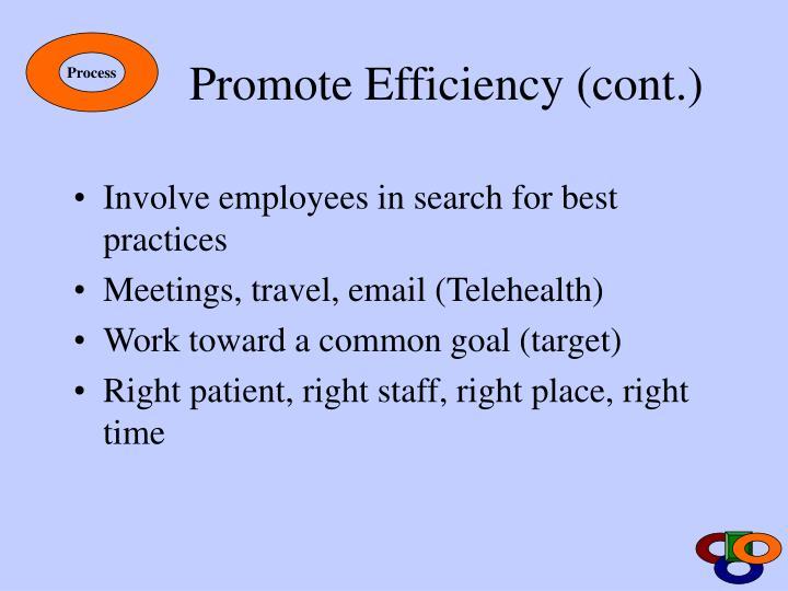 Promote Efficiency (cont.)