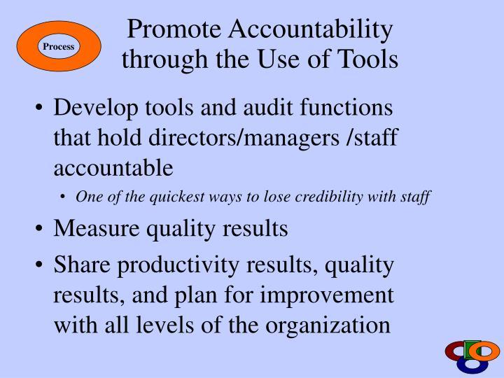 Promote Accountability