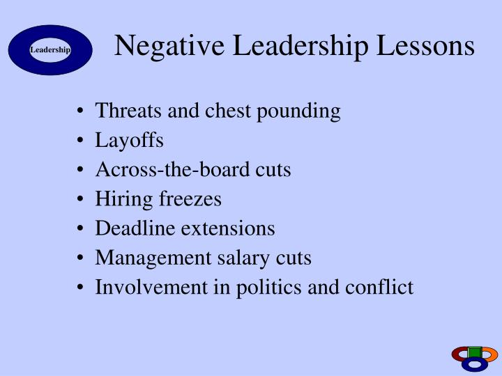 Negative Leadership Lessons