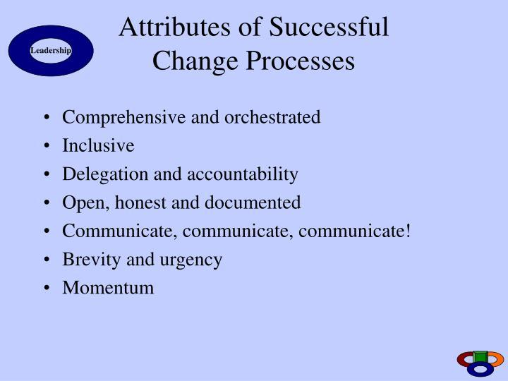 Attributes of Successful