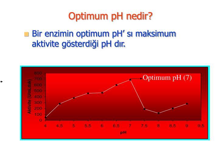 Optimum pH nedir?