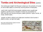 tombs and archeological sites cont