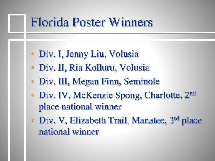 Florida Poster Winners