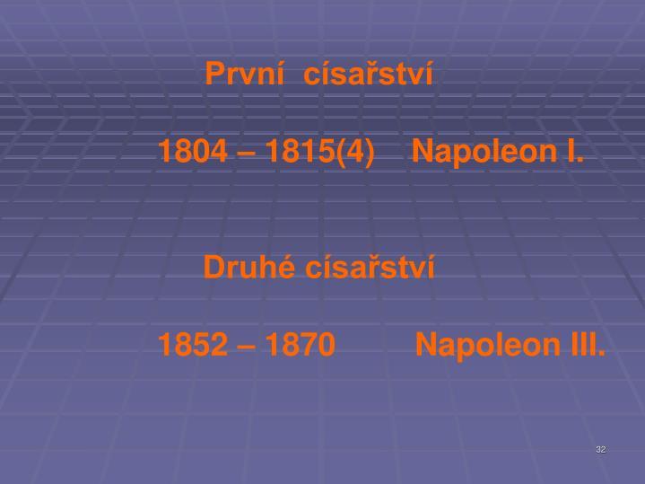 První  císařství