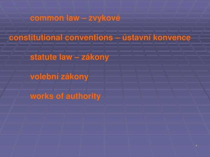 common law – zvykové