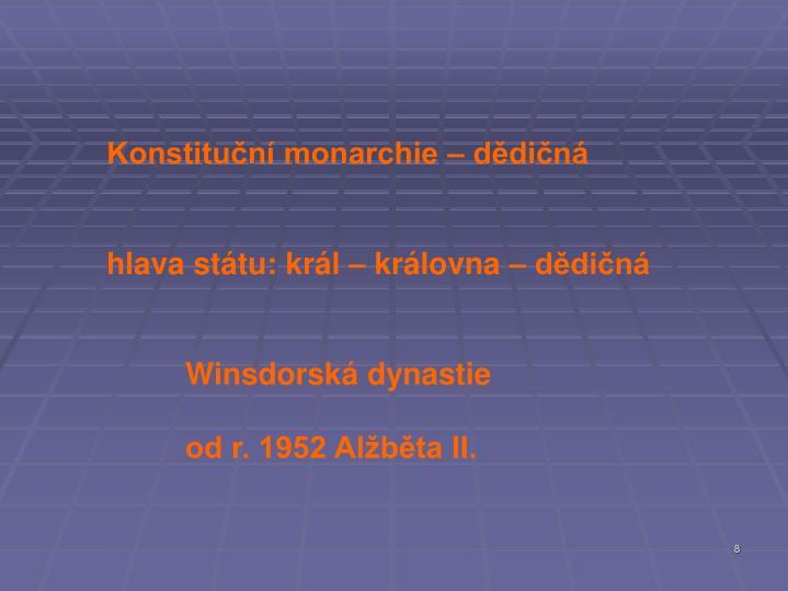 Konstituční monarchie – dědičná