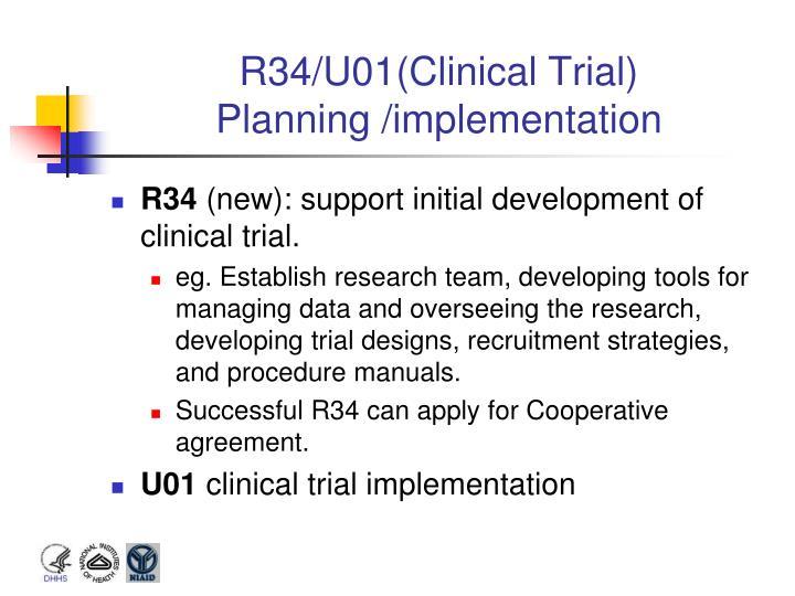 R34/U01(Clinical Trial)