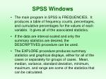 spss windows