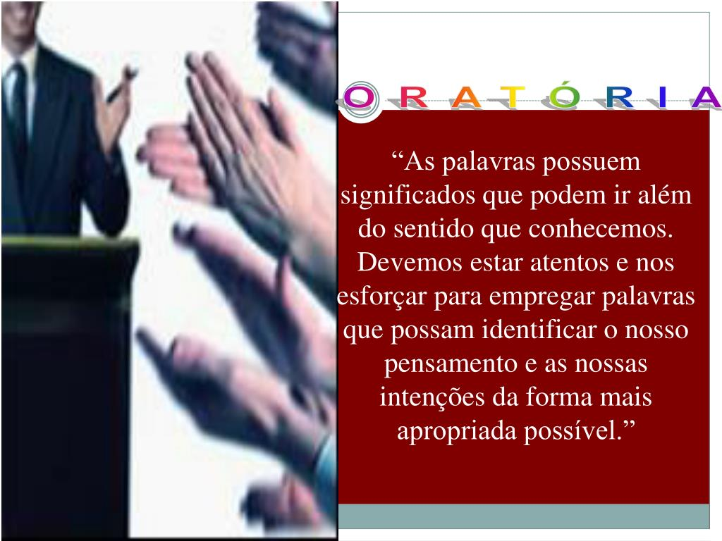 Ppt Oratória Powerpoint Presentation Free Download Id
