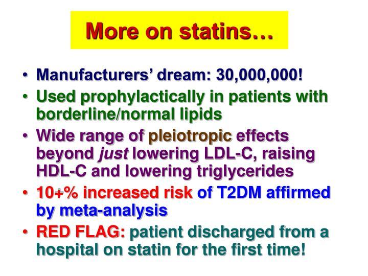 More on statins…