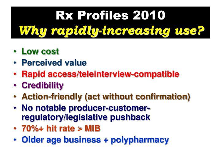 Rx Profiles 2010
