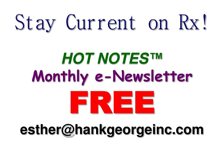 Stay Current on Rx!