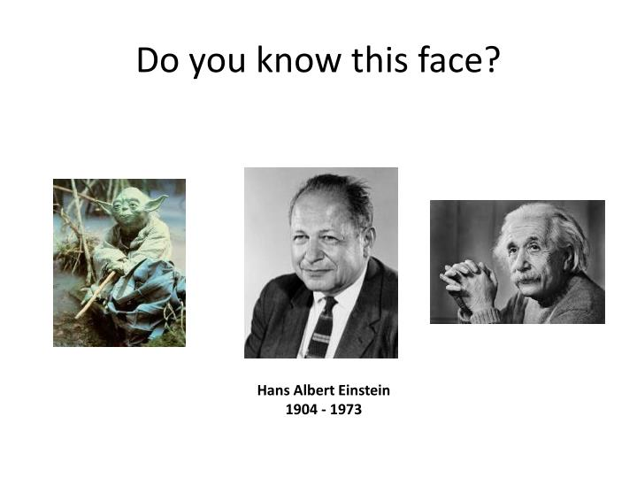 Do you know this face?