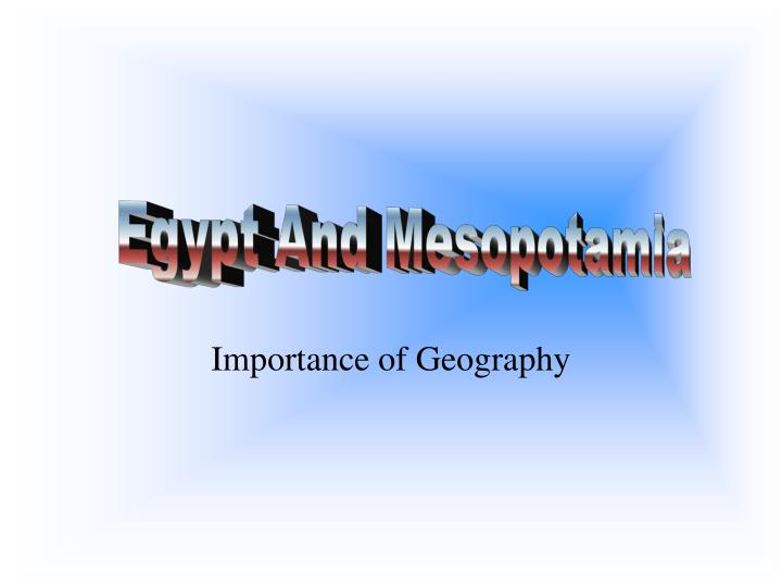 importance of geography n.