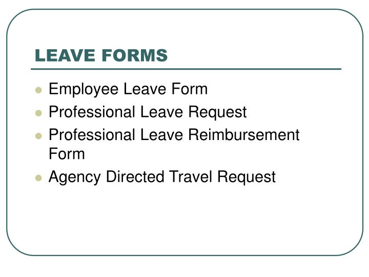 LEAVE FORMS
