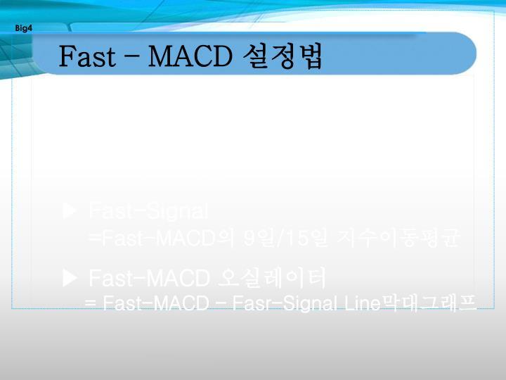 Fast – MACD