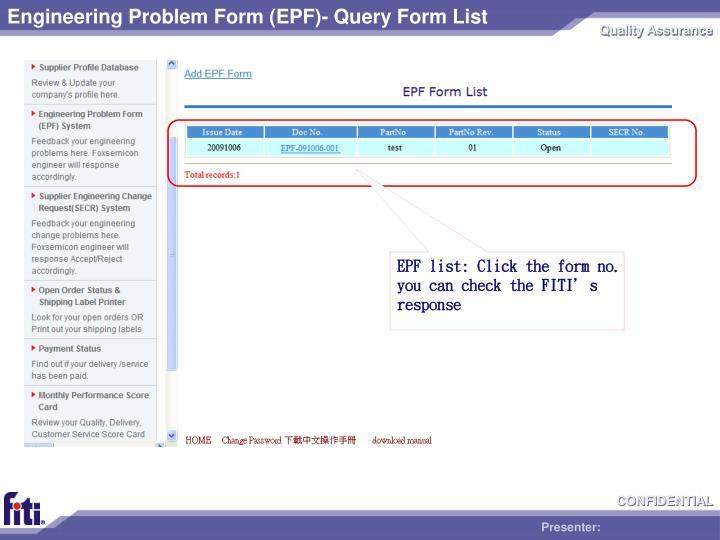 Engineering Problem Form