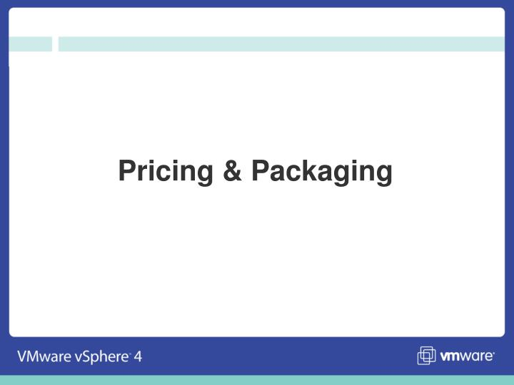 Pricing & Packaging
