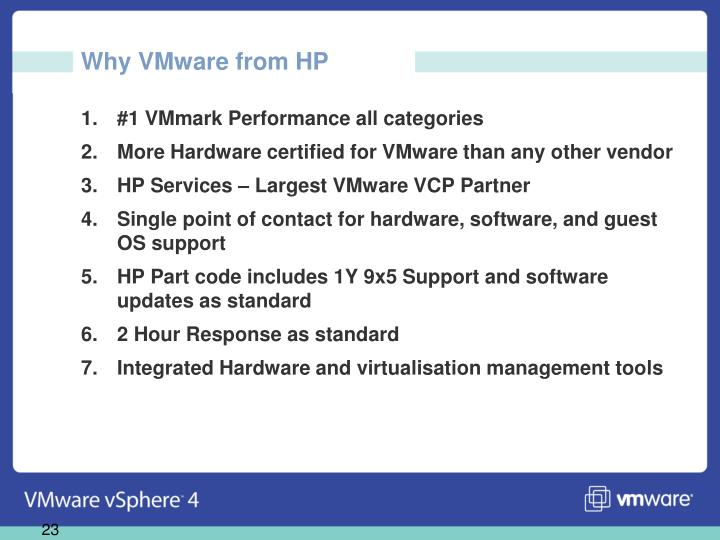 Why VMware from HP