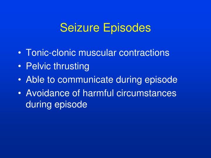 Seizure Episodes