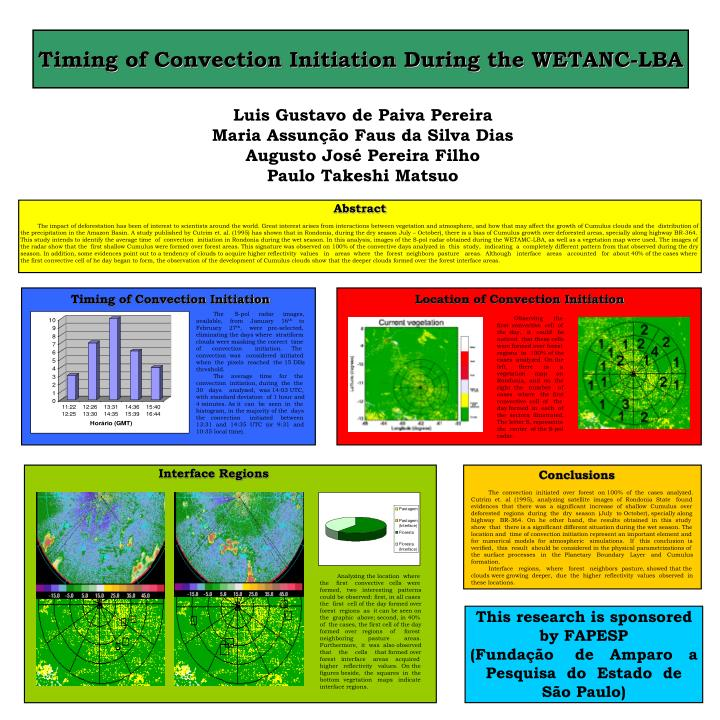 Timing of Convection Initiation During the WETANC-LBA