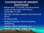contributions of ancient egyptians