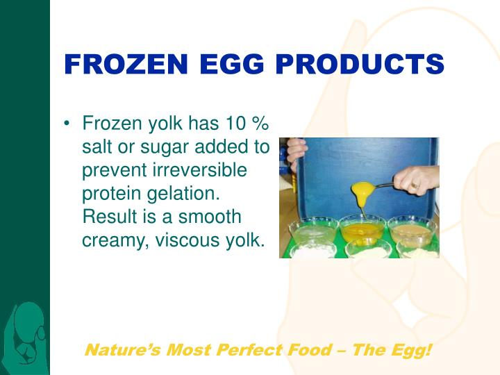 FROZEN EGG PRODUCTS