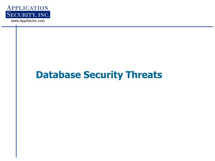 Database security threats