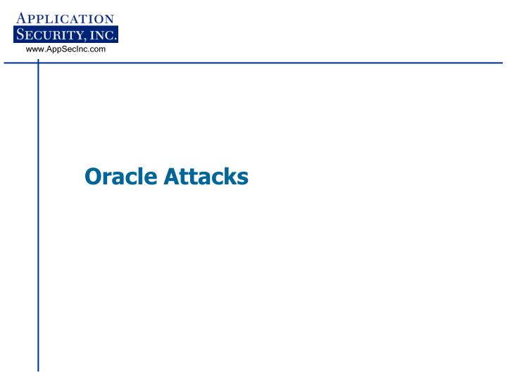 Oracle Attacks