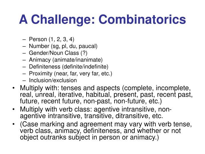 A Challenge: Combinatorics