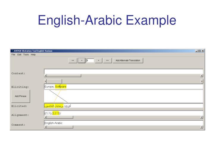 English-Arabic Example