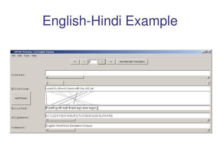 English-Hindi Example