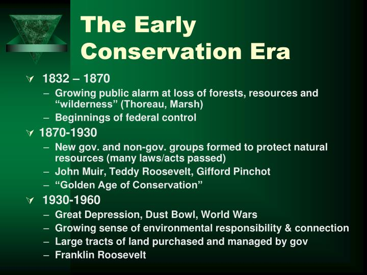 The Early Conservation Era
