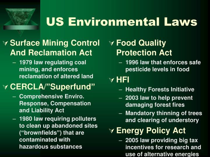 US Environmental Laws