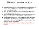 efforts at improving security