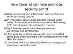 how libraries can help promote security contd2