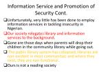 information s ervice and promotion of security cont